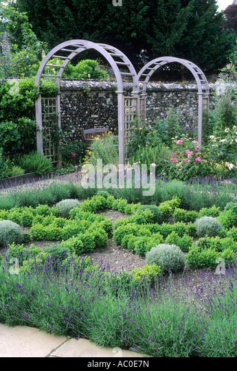 Box knot garden stock photos box knot garden stock for Herb knot garden designs