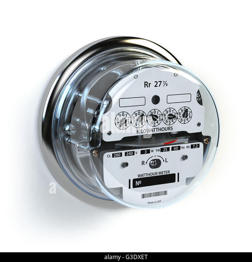 Analog Electric Meter : Kilowatt counter stock photos