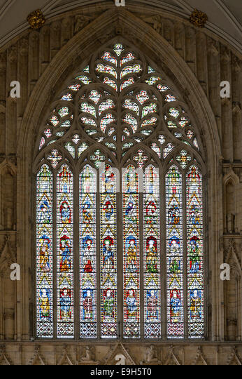 Gothic medieval church window stock photos gothic for West window york minster