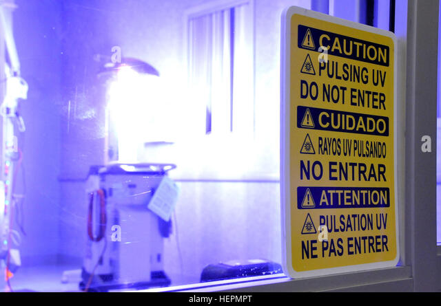 Xenex stock photos xenex stock images alamy l vira a germ zapping robot emits a flash of ultraviolet c ccuart Choice Image