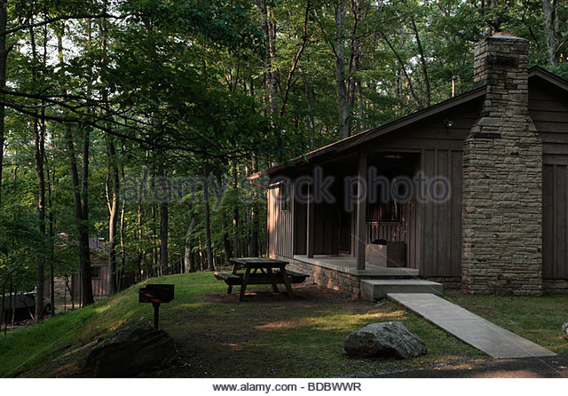 A Typical Guest Cabin At Lost River State Park Near Mathias, West Virginia.