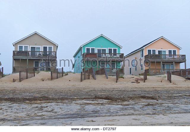 Cape hatteras beach north carolina stock photos cape for Hatteras homes