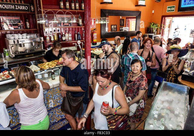 Crowded Restaurant Line