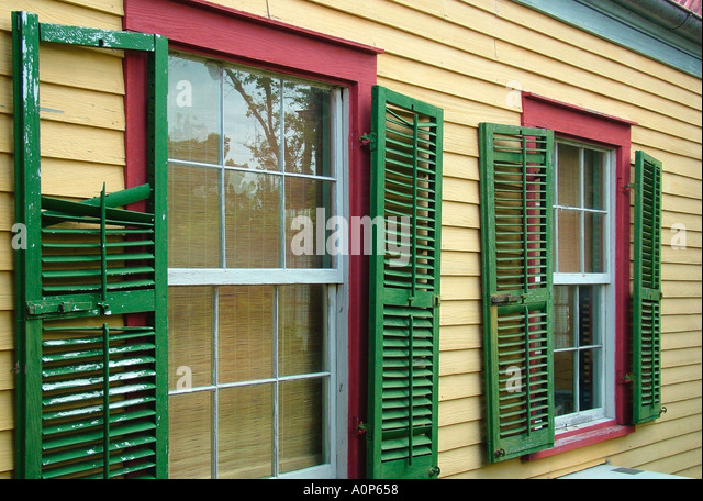 Plantation shutters stock photos plantation shutters for Southern plantation shutters