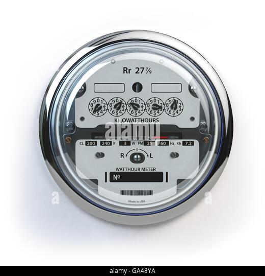Utility Meter Analog : Kilowatt meter stock photos images