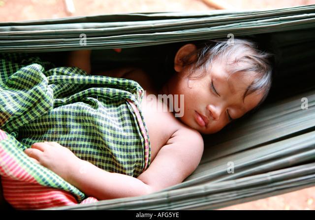 baby asleep in a hammock at tompuon minority village ratanakiri province northern cambodia   tribe hammock stock photos  u0026 tribe hammock stock images   alamy  rh   alamy