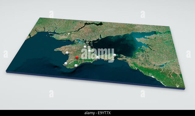 Map Of Crimea And Ukraine Stock Photos Map Of Crimea And Ukraine - Crimea black sea map