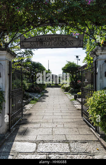 Entry To San Diego Gardens, Intramuros, Manila, Philippines   Stock Image