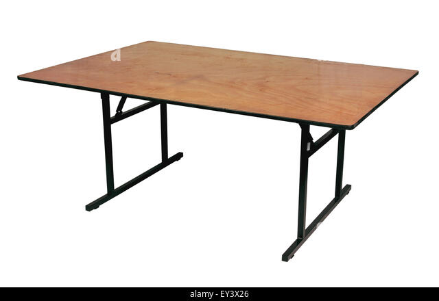 Folding Banquet Table   Stock Image