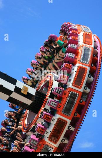 People Having Fun Carnival Ride Canobie Lake Park NH - Stock Image & Canobie Lake Park Stock Photos u0026 Canobie Lake Park Stock Images ...