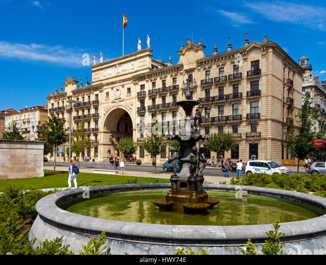 Central bank spain banco de stock photos central bank for Banco santander sucursales barcelona
