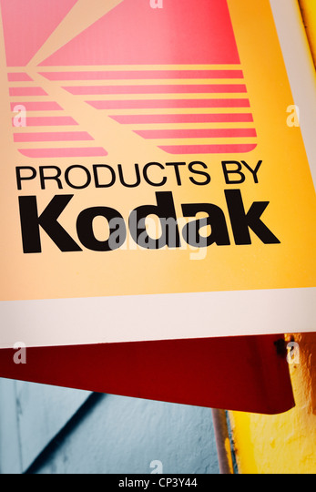 old kodak outside sign alamy