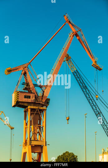 Yard Boss Industrial Cranes : Big in yard poland stock photos