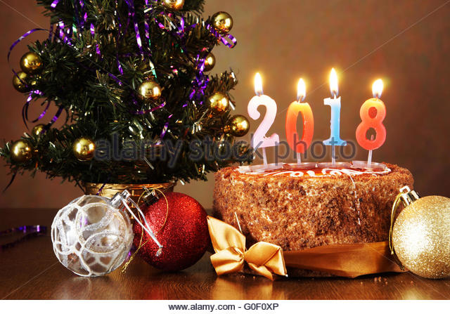 New Year Cake Images 2018 : Year 2018 Stock Photos & Year 2018 Stock Images - Alamy