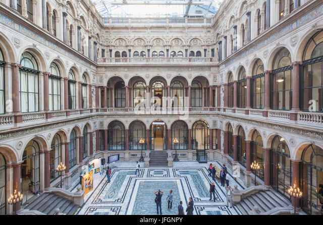 England, London, Whitehall, The Foreign Office, Interior Courtyard   Stock  Image