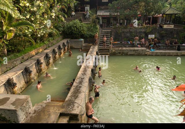 Air Terjun Gitgit Waterfall Near Lovina Lovina Indonesia Stock ...