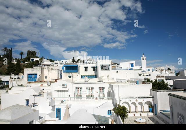 Sidi bou said tunisia stock photos sidi bou said tunisia for Sidi bou said restaurant