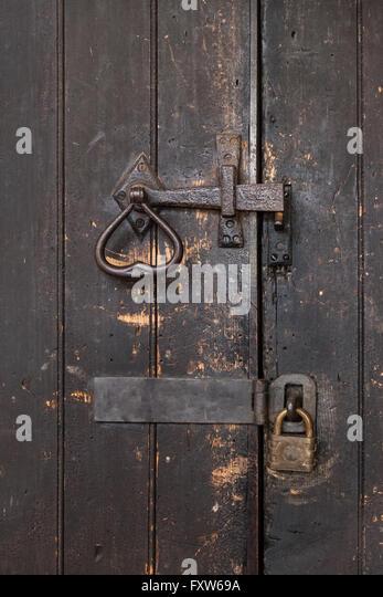Double locked old door - Stock Image & Door Locked Barred Stock Photos \u0026 Door Locked Barred Stock Images ...