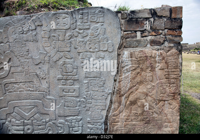 Zapotec glyph stock photos images
