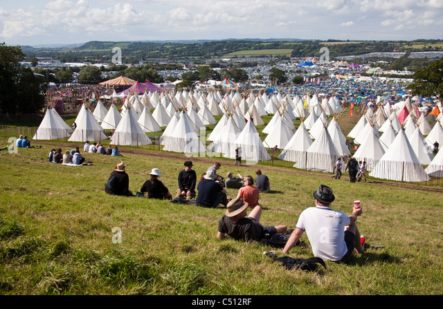 Teepee Tipi or Wigwam tents at the Glastonbury Festival 2011 Somerset England & Teepee Tipi Wigwam Tents Glastonbury Stock Photos u0026 Teepee Tipi ...
