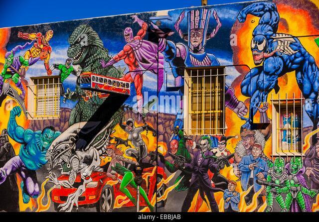 Hulk marvel stock photos hulk marvel stock images alamy for Comic book mural