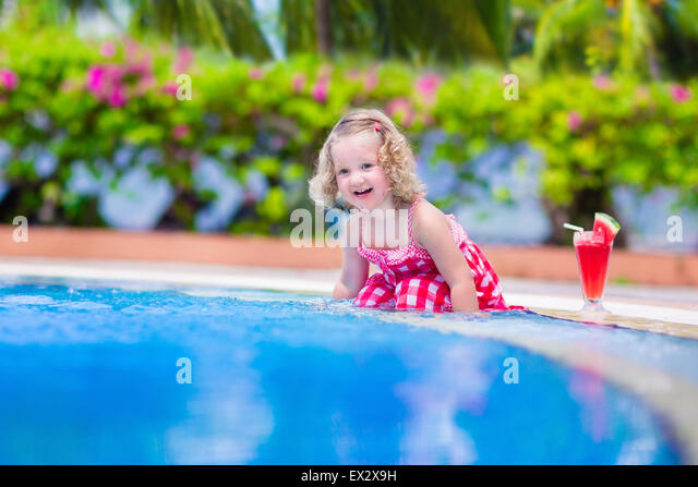 Child drinking water sun stock photos child drinking How to make swimming pool water drinkable