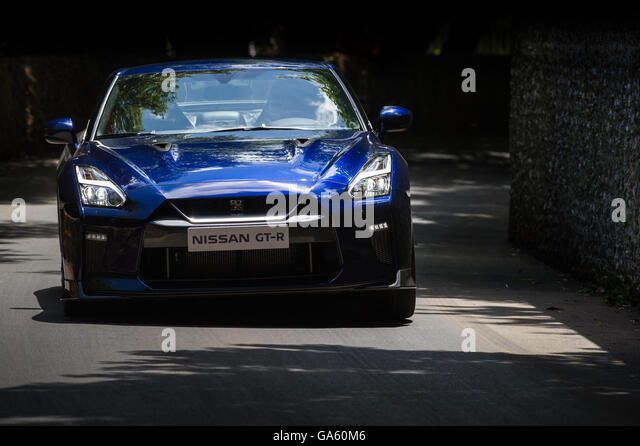 A Nissan GT R Drives Past The Flint Wall During The Super Car Run At