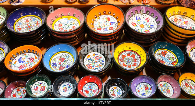 Classical turkish ceramics on the bazaar istanbul stock photo - Turkish Ceramics Istanbul Turkey Stock Photos Amp Turkish