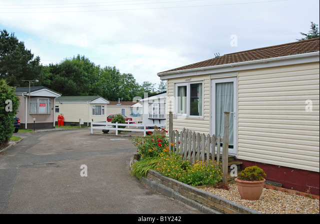 A Mobile Hometrailer Park Near Redruth In Cornwallengland