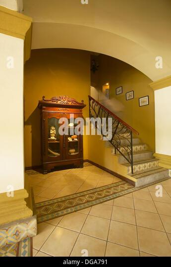 Hotel Alhambra Interior. Granada, Nicaragua. - Stock Image