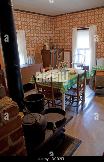 Kitchen In The Two Roomed Shack Where Elvis Presley Was Born And He Lived Until