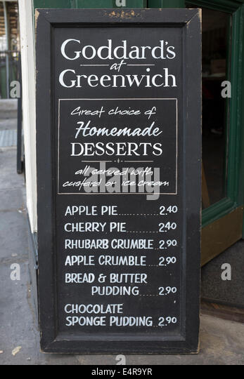 Goddards Pie and Mash Shop Cafe Greenwich London - Stock Image