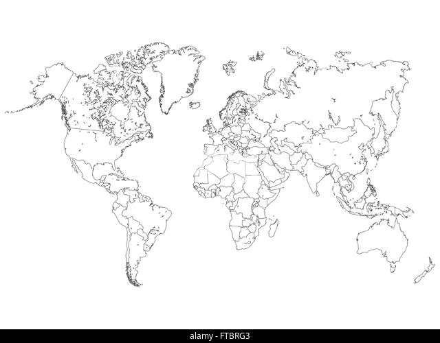 World map outline stock photos world map outline stock images alamy world map outline illustration stock image gumiabroncs Images