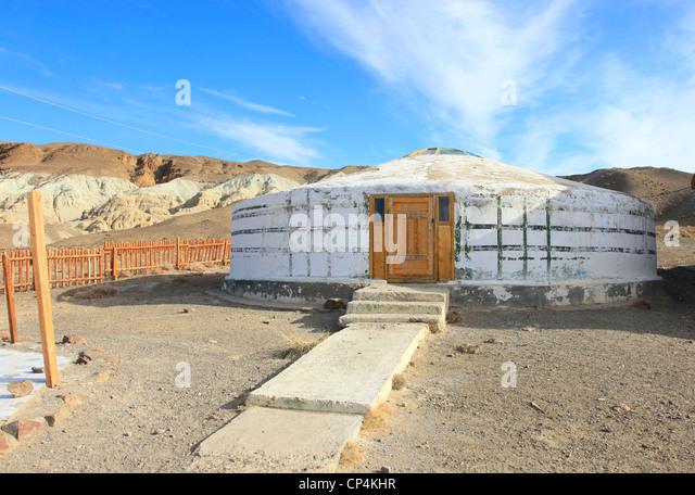 Building mongolian yurt stock photos building mongolian for Mandukhai houdilcourt