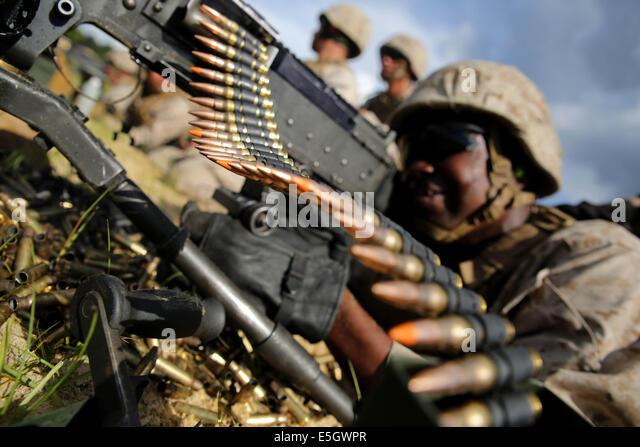 marine corp machine gunner