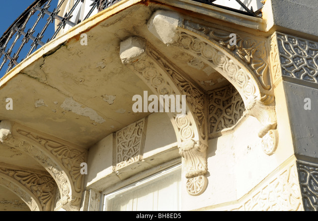 Ornate Cornice On A Townhouse