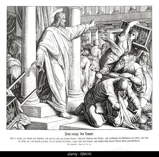 Jesus Drives The Money Changers From Temple Gospel Of John Chapter II Verses 15