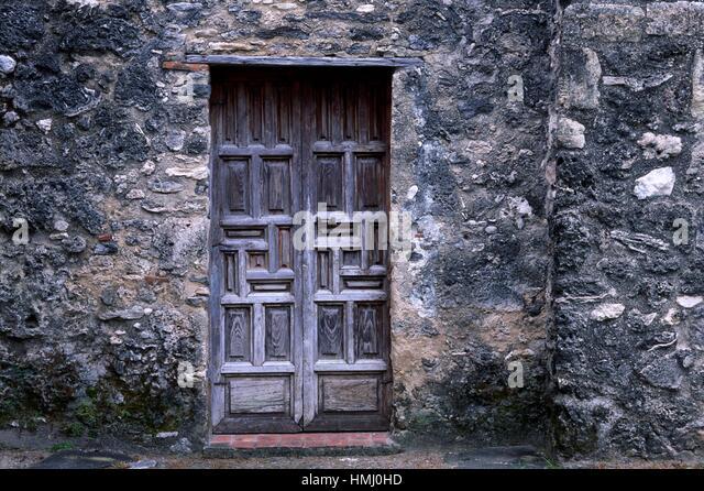 Texas San Antonio Mission Door Stock Photos & Texas San Antonio ...