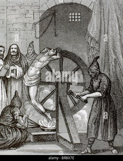 La torture des filles par l'Inquisition