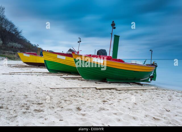 Baltic fishing sea boat wooden boat stock photos baltic for Long beach fishing boat