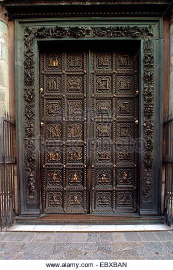 The Battistero gilded bronze doors Italy Tuscany Florence - Stock Image & Decorated Bronze Doors Stock Photos \u0026 Decorated Bronze Doors Stock ... Pezcame.Com