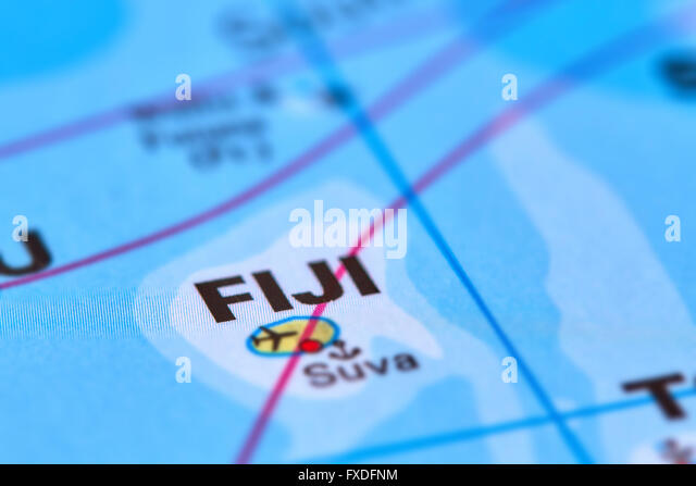 Fiji fiji islands map stock photos fiji fiji islands map fiji island in oceania on the world map stock image gumiabroncs Images