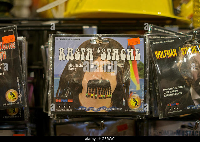 a fake rasta mustache for sale at the halloween adventure costume shop in greenwich village - Halloween Adventure New York
