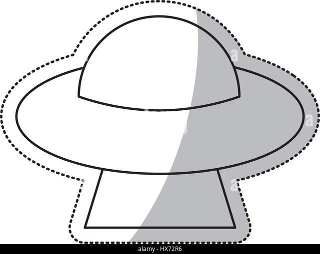 Cartoon Alien Spaceship Flying Saucer Stock Photos