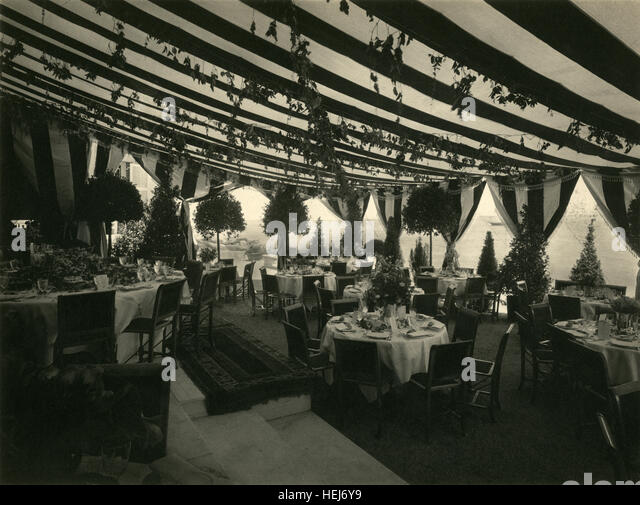 Victorian Dinner Party Part - 45: Antique 1904 Photograph, The Terrace At Charles Oliver Iselinu0027s Estate, All  View, In