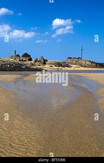 stock photo three bench seaside bude cornwall