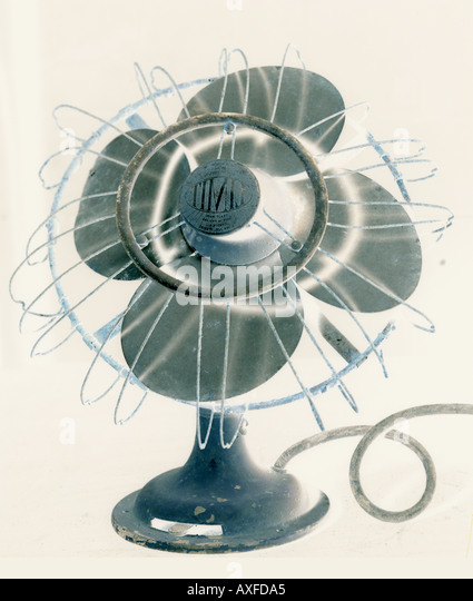 Cooling Off With Fan : Cooling off electric fan stock photos