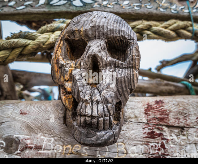 A carved skull stock photos images