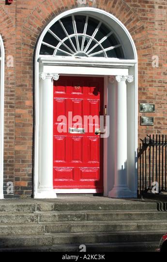 Georgian door front Dublin - Stock Image & Front Door With Pillars Stock Photos \u0026 Front Door With Pillars ... Pezcame.Com