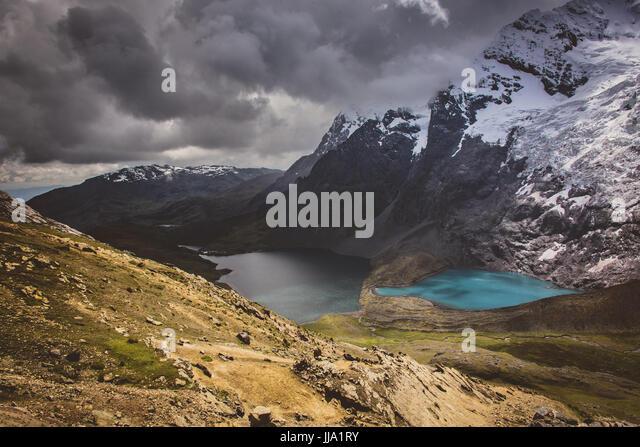 Ausangate glacial mountain range & lakes, Peru - Stock Image